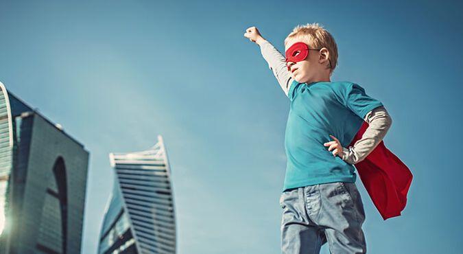 Niño superhéroe