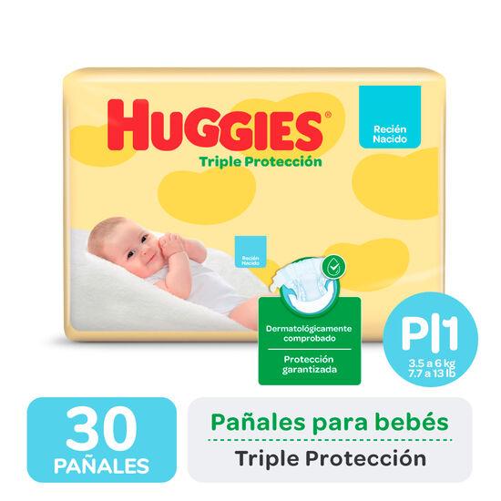 PAÑALES HUGGIES TRIPLE PROTECCIÓN Px30