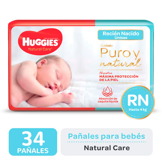 PAÑAL HUGGIES NATURAL CARE RNx34