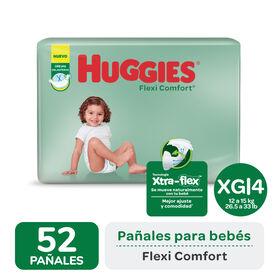 PAÑAL HUGGIES FLEXI COMFORT XG x 52