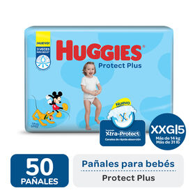 PAÑAL HUGGIES PROTECT PLUS XXG x50