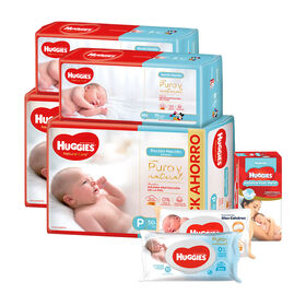 Combo Baby Shower Huggies Natural Care