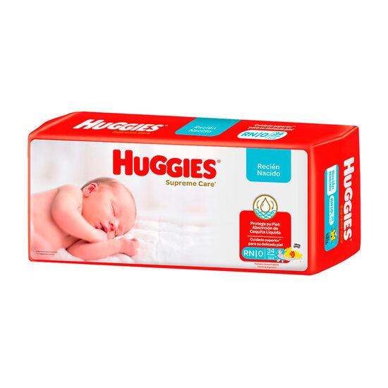 PAÑAL HUGGIES SUPREME CARE RN x 34