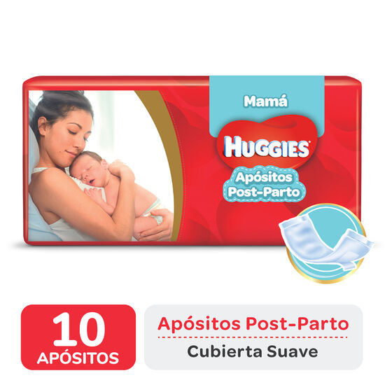 APÓSITOS POST PARTO HUGGIES MAMÁ x10