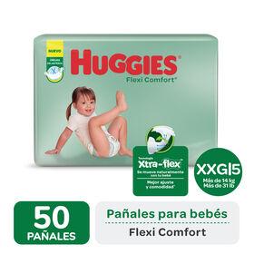 PAÑAL HUGGIES FLEXI COMFORT XXG x 50