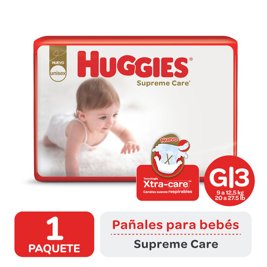 PAÑAL HUGGIES SUPREME CARE AHORRAPACK Gx60
