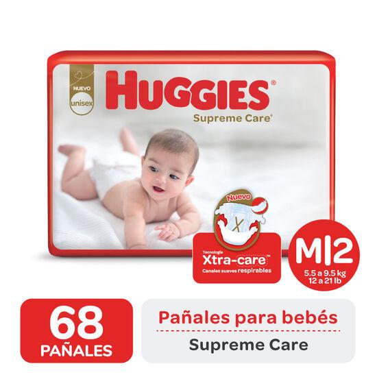 PAÑAL HUGGIES SUPREME CARE AHORRAPACK M x68