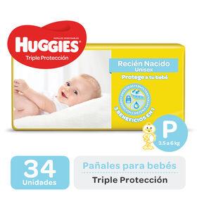 PAÑAL HUGGIES TRIPLE PROTECCIÓN Px34