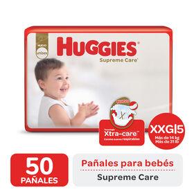 PAÑAL HUGGIES SUPREME CARE AHORRAPACK XXGx50