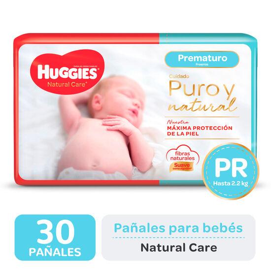 PAÑAL HUGGIES NATURAL CARE Prematuro x30