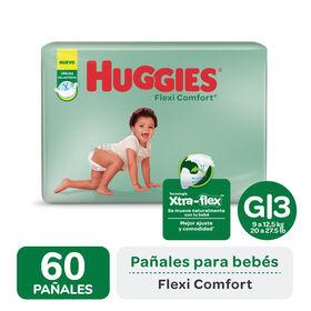 PAÑAL HUGGIES FLEXI COMFORT G x 60