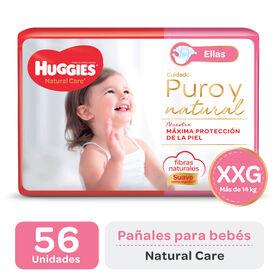 PAÑAL HUGGIES NATURAL CARE ELLAS XXGx56