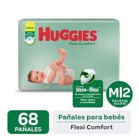 PAÑAL HUGGIES FLEXI COMFORT M x 68
