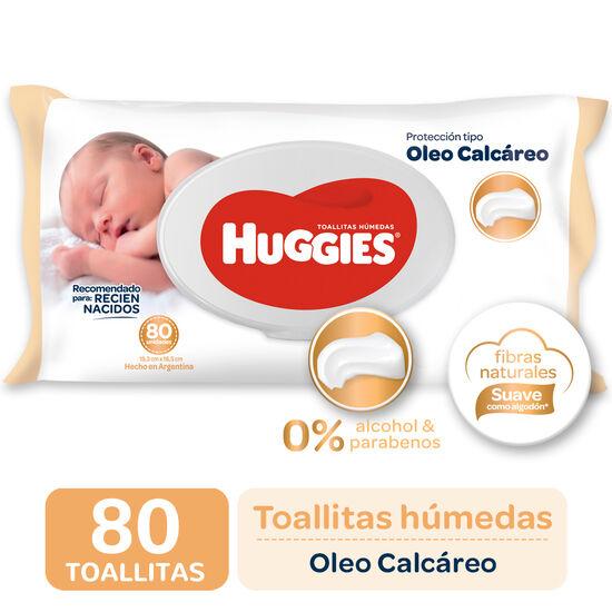 TOALLITAS HUMEDAS Huggies  Óleo Calcáreo x80
