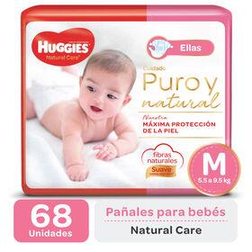 PAÑAL HUGGIES NATURAL CARE ELLAS Mx68